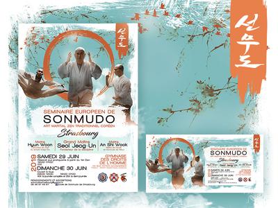 Séminaire Européen de Sonmudo - Poster Design wealth asia zen sport meeting poster graphic  design design