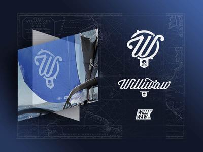 Williwaw - Identity skull lettering logo ship branding vector identity illustration graphic  design design