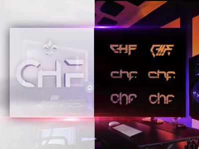 CHF - IDENTITY lettering logo vector typography branding identity graphic  design design