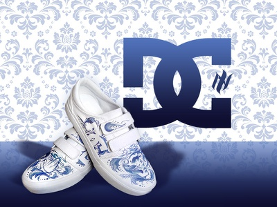 New Icon x DC Shoes art shoes custom art sneakers sport illustration logo design