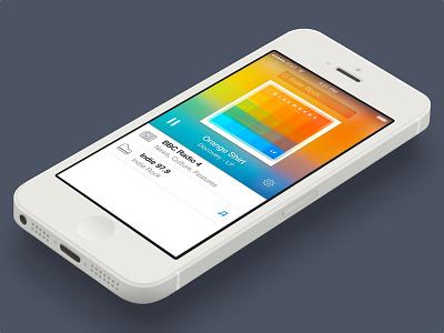 Radium Redesign Freebie (Sketch) iphone ios7 app flat player music selfie freebie download sketch radium radio