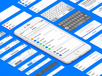 iOS 9 UI Template for Sketch iphone 6 components wireframe ux stencil sketch template ui ios 9 ios9
