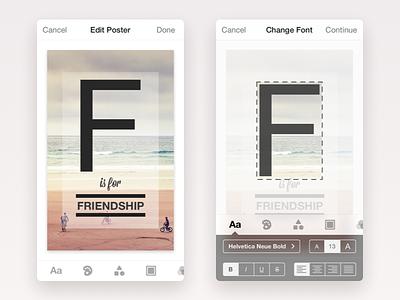 Postr - Edit Poster text edit typography poster minimal iphone ios flat app