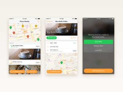 Wait – Add Waiting Time Flow (iPhone) discover venue wait time minimal iphone ios flow app
