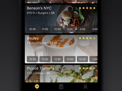 SwiftDine  around venue order delicious takeout dine ios app iphone dark food