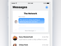 Together chat blue messages group ios11 ios 11 light iphone app ios