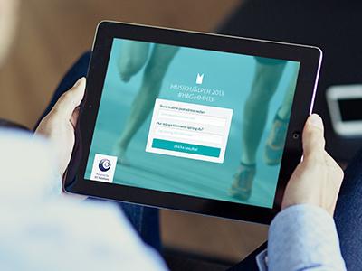 iPad web interface ipad web design