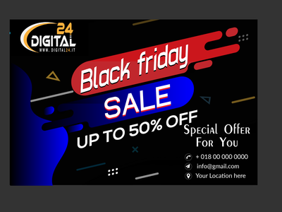 new banner Contest  Black Friday sale typography designlogo brandingdesigne businessbranding vector logo illustration design branding