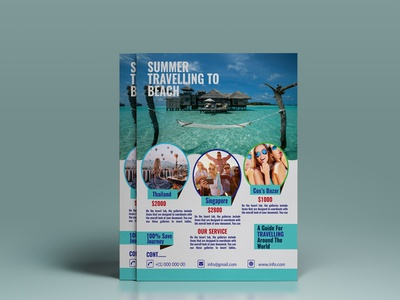 New Mockup 01  flyer With Travel and Tour