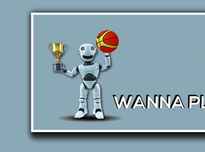 Banner Design with  robot
