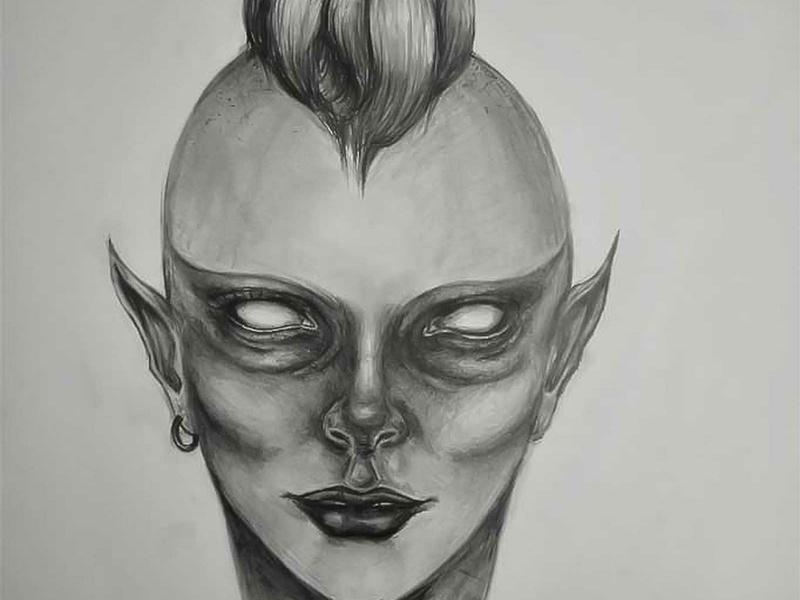 Alien realism love life abstractart portrait creative graphic myart art pencildrawing sketching paintings graphics illustration pictures image draw drawings charcoaldrawing charcoal
