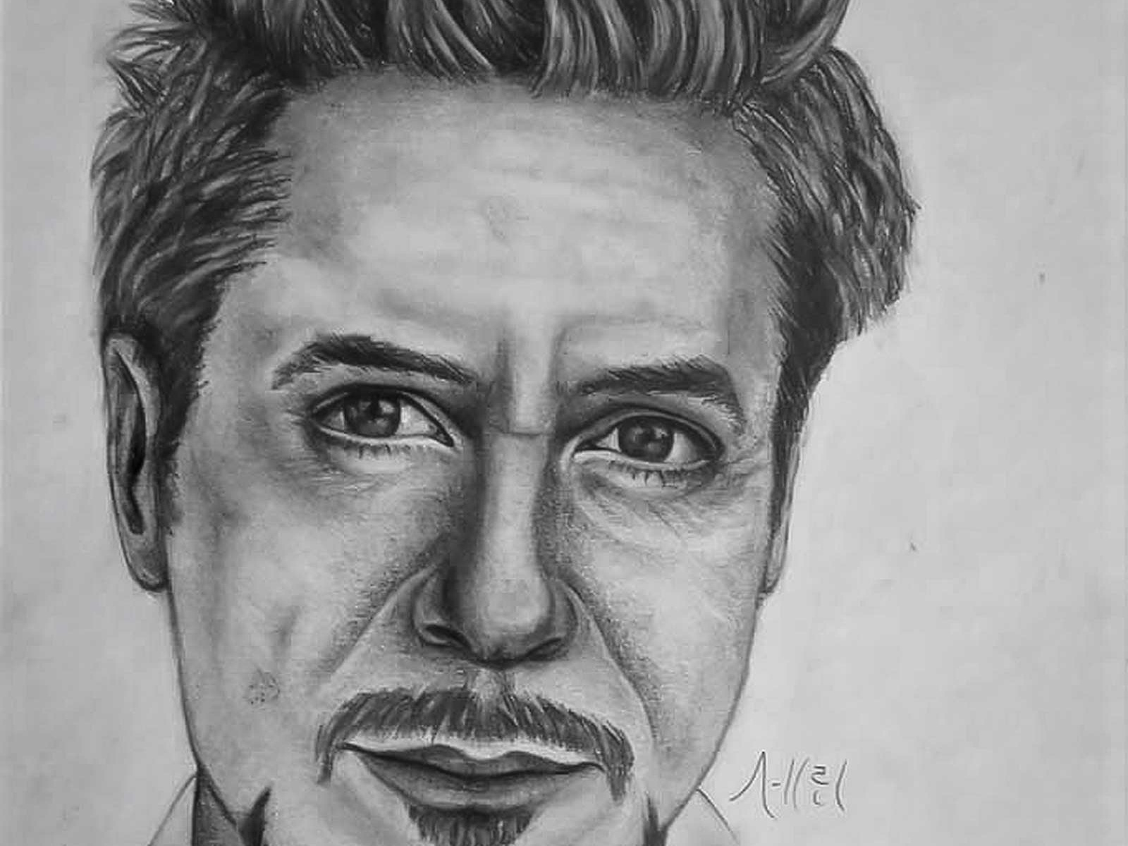 Robert downey jr iron man drawing sketch