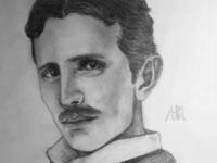 Nikola Tesla Drawing | Sketching | Karakalem