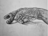 Worn Hand Drawing | Sketching | Karakalem