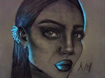 Women Bright Drawing | Sketching | Karakalem