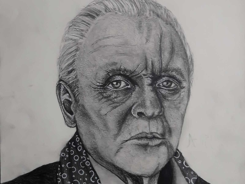 Anthony Hopkins Drawing | Sketching | Karakalem realism love life abstractart portrait creative graphic myart art pencildrawing sketching paintings graphics illustration pictures image draw drawings charcoaldrawing charcoal