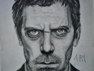 Dr. House Drawing | Sketching | Karakalem