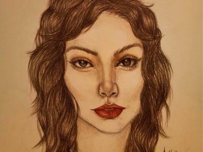 Luna Drawing | Sketching | Karakalem