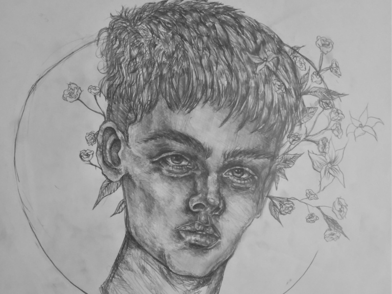 Flowers Drawing | Sketching | Karakalem realism love life abstractart portrait creative graphic myart art pencildrawing sketching paintings graphics illustration pictures image draw drawings charcoaldrawing charcoal