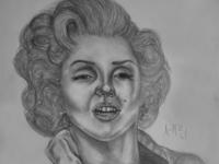 Marilyn Monroe Drawing | Sketching | Karakalem