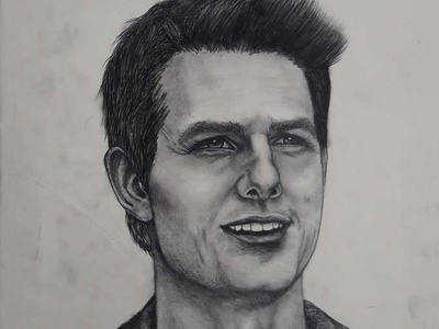 Tom Cruise Drawing | Sketching | Karakalem realism love life abstractart portrait creative graphic myart art pencildrawing sketching paintings graphics illustration pictures image draw drawings charcoaldrawing charcoal