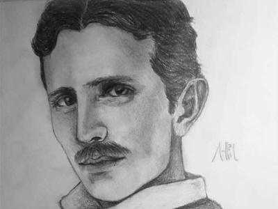 Nikola Tesla Drawing | Sketching | Karakalem realism love life abstractart portrait creative graphic myart art pencildrawing sketching paintings graphics illustration pictures image draw drawings charcoaldrawing charcoal