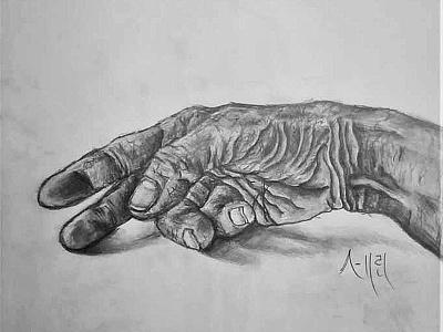 Worn Hand Drawing | Sketching | Karakalem realism love life abstractart portrait creative graphic myart art pencildrawing sketching paintings graphics illustration pictures image draw drawings charcoaldrawing charcoal