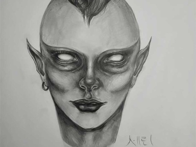 ALIEN Drawing | Sketching | Karakalem realism love life abstractart portrait creative graphic myart art pencildrawing sketching paintings graphics illustration pictures image draw drawings charcoaldrawing charcoal