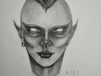 ALIEN Drawing | Sketching | Karakalem