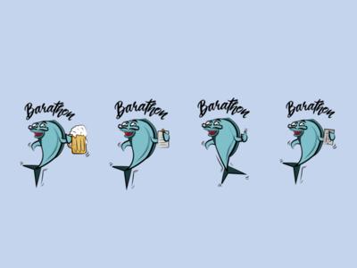 BARATHON - Illustration Thon app interface illustrator vector illustration design logo design logotype logo