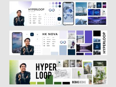 Stylescape - Hyperloop fiction projet app web advertising interface affiche ui branding ux design
