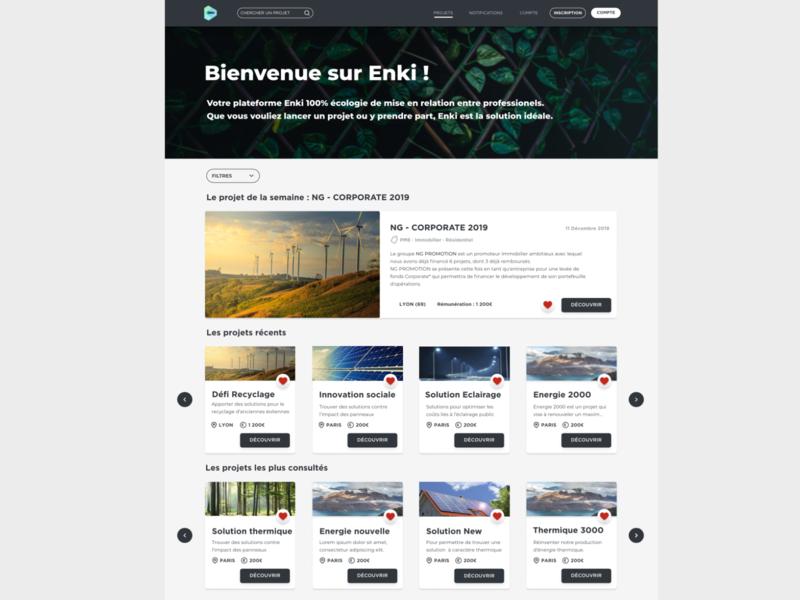 Projet pédagogique en groupe - Interface desktop interface typography ux ui vector design