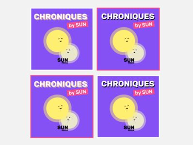 Chroniques by Sun flat interface miniature podcast affiche logo ui ux typography branding design