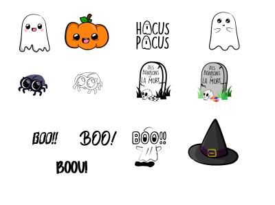 Halloween illustration illustrator design affiche drawing ux ui vector illustration