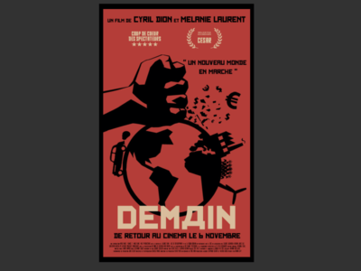 DEMAIN - Movie poster with constructivism theme