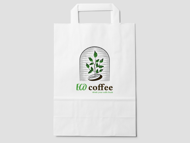 Eco vector logo illustration icon branding