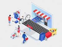 Isometric online shopping