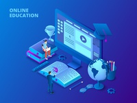 Isometric dark online education