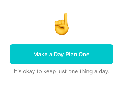 One plan for one day feed ios11 check box card tag emoji button empty state