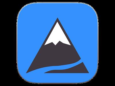 Mountain App Icon app icon logo mountain river snow peak