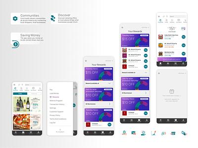 Cinch wallet design app uxui design