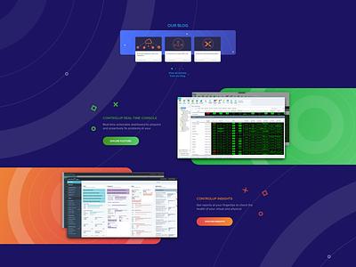 Controlup website website uxui design