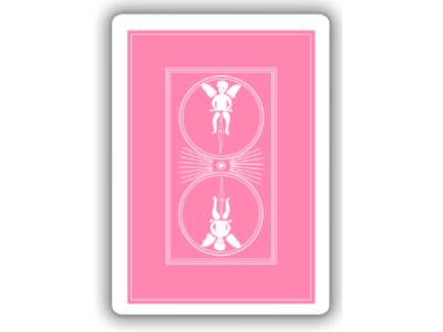 Pink playing card