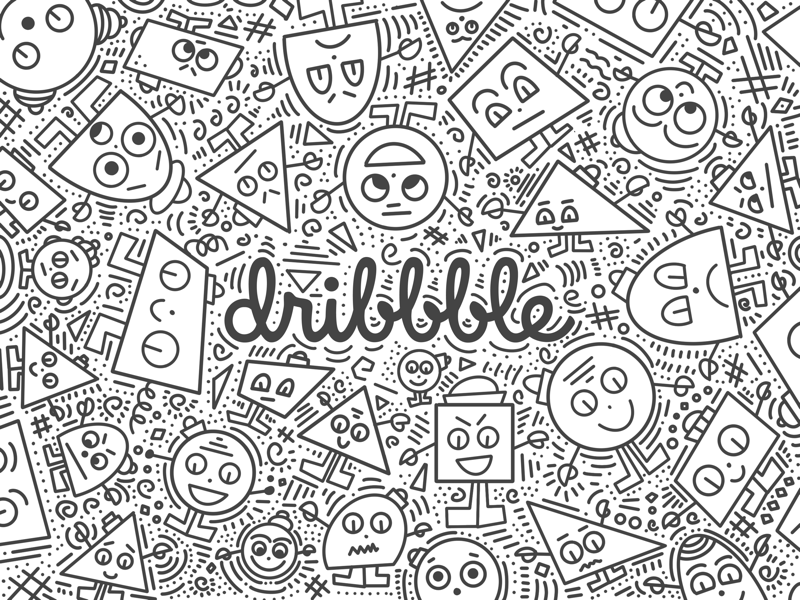 Mr. Doodle Dribbble procreate ipad pro doodles shapes cute illustration character doodle