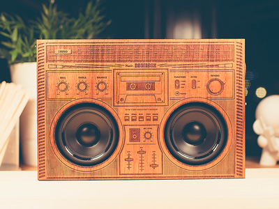 The Wooden Boombox wooden boombox engraving laser koa speakers product