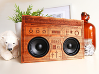 The Wooden Boombox - Solid Mahogany