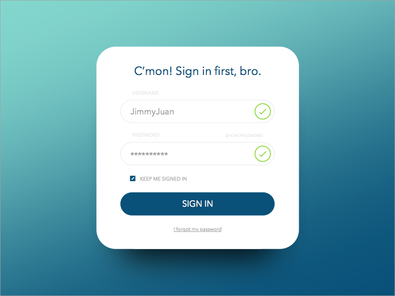 Day 001 - Login Form sketch ux password username check box input interface ui form sign up sign in login
