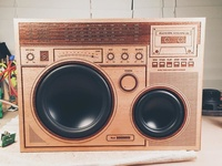 Wooden Boombox
