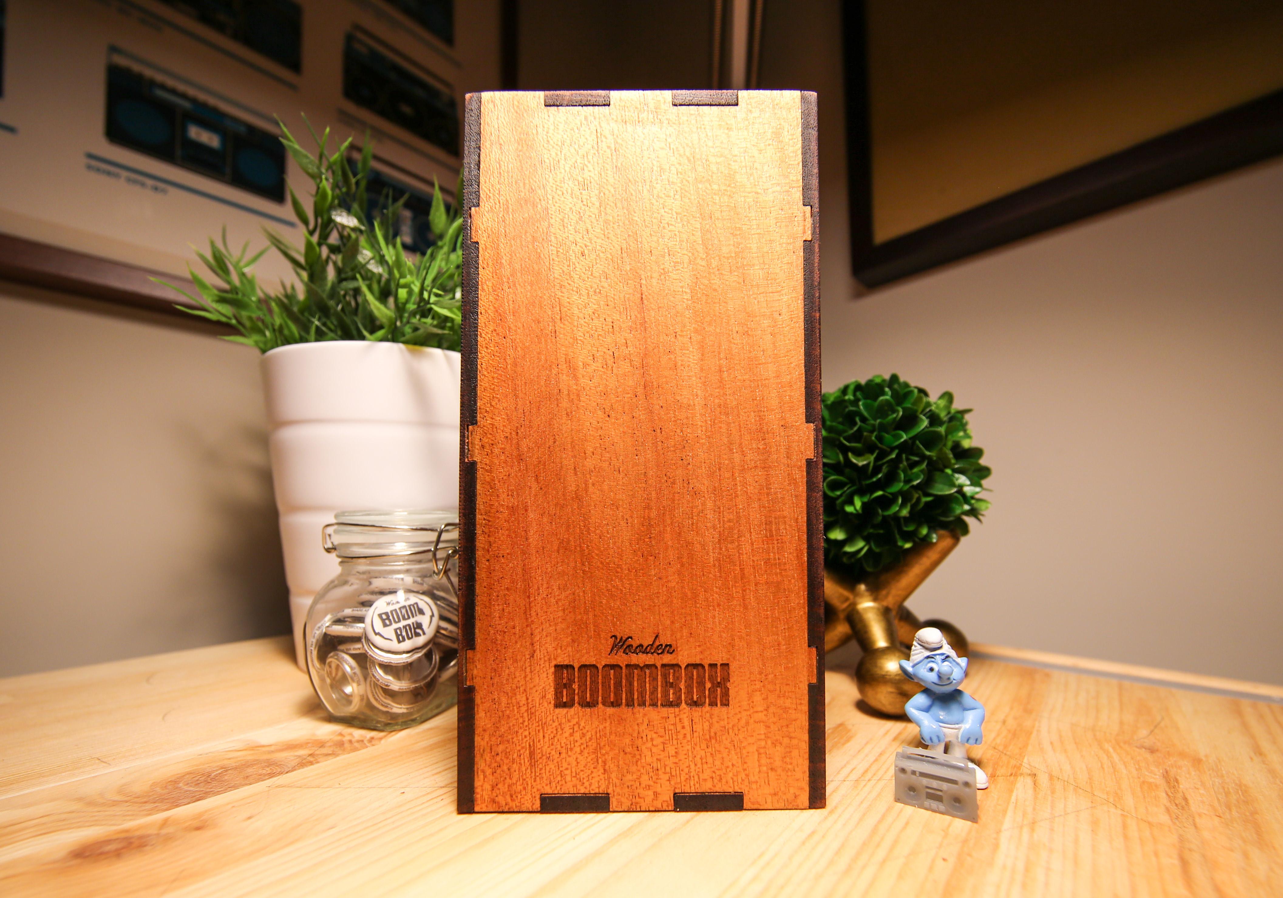 Wooden big boombox photos 4