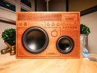 Wooden big boombox photos 1